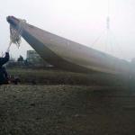 平成の木造船 進水式